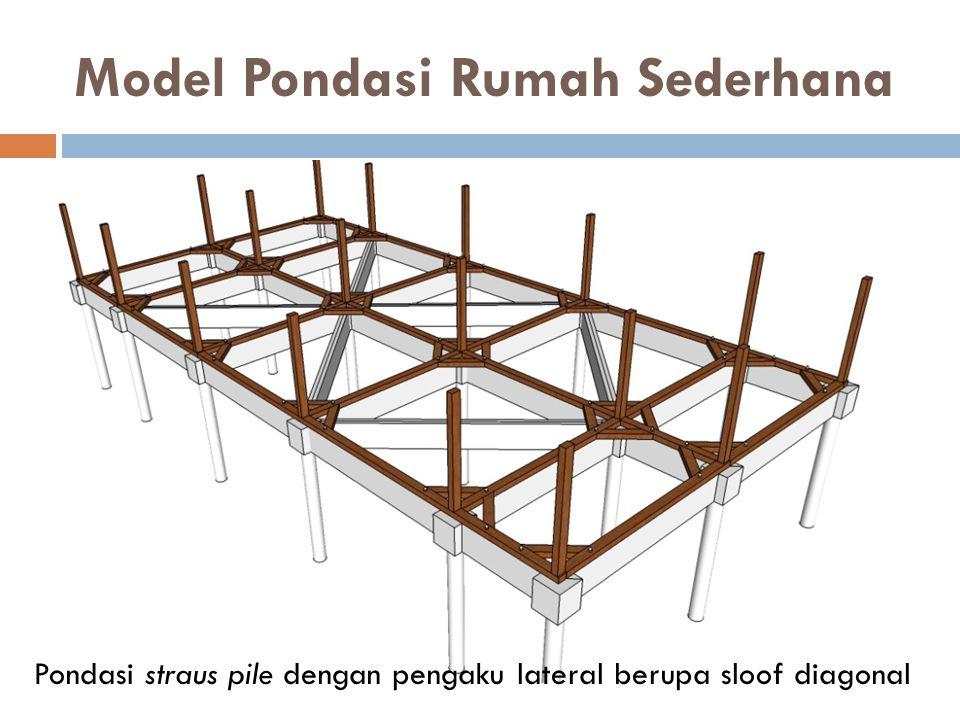 Model Pondasi Rumah Sederhana Pondasi straus pile dengan pengaku lateral berupa sloof diagonal