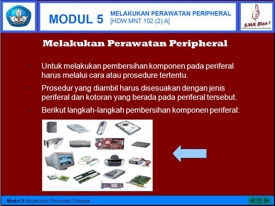 •Mouse merupakan periferal paling rawan terhadap debu, terutama mouse yang masih menggunakan bola. •Mouse bersentuhan langsung dengan alas (mousepad)