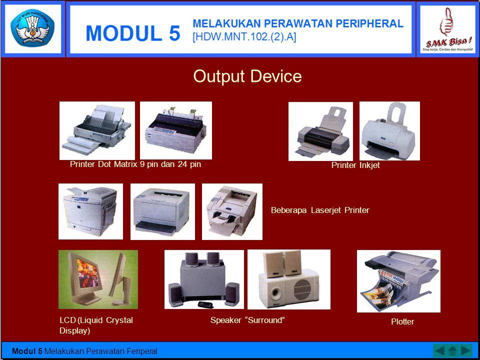 Bagian feriperal 1. Input Device Input Device berfungsi untuk memasukkan data atau perintah ke dalam komputer. Keyboard Mouse Scanner Joystick Trackba