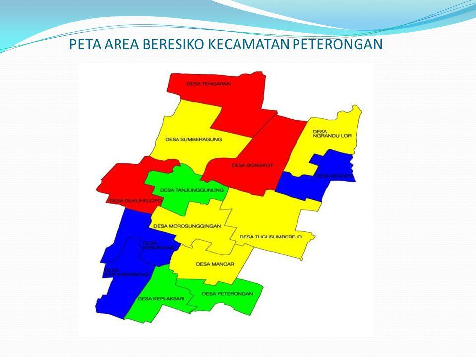 PETA AREA BERESIKO KECAMATAN PETERONGAN