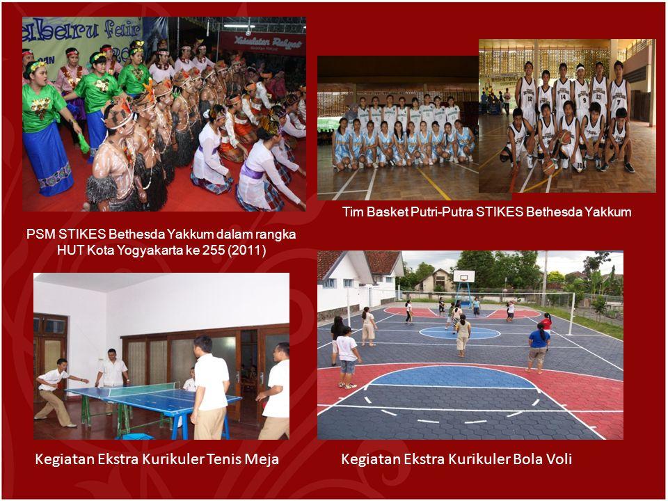 PSM STIKES Bethesda Yakkum dalam rangka HUT Kota Yogyakarta ke 255 (2011) Tim Basket Putri-Putra STIKES Bethesda Yakkum Kegiatan Ekstra Kurikuler Tenis MejaKegiatan Ekstra Kurikuler Bola Voli