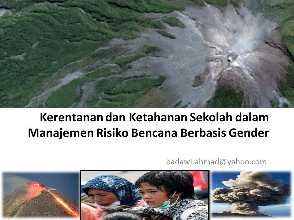 Kerentanan dan Ketahanan Sekolah dalam Manajemen Risiko Bencana Berbasis Gender badawi.ahmad@yahoo.com