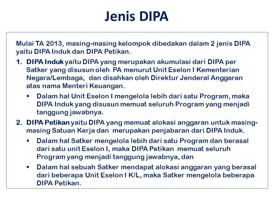 Jakarta, 12 November 2012 40 Beberapa Perubahan Dalam Penyusunan dan Pengesahan DIPA : a.Jenis DIPA; b.Penanda tangan DIPA; c.Pernyataan syarat dan ke