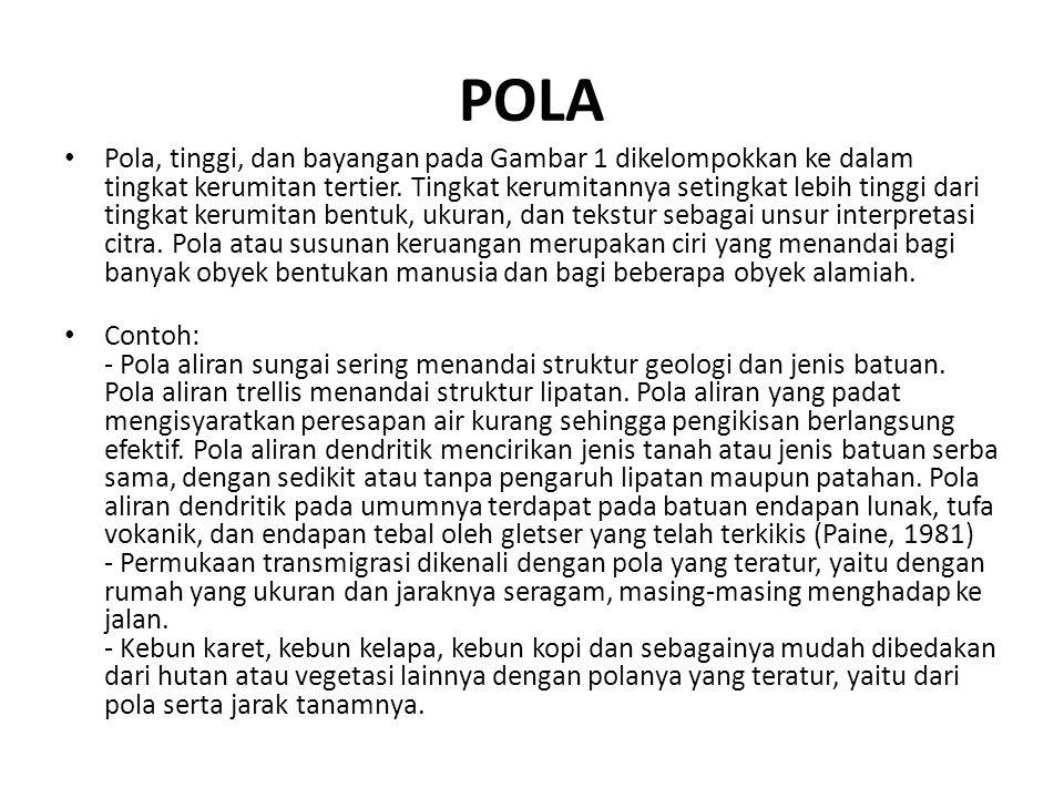 POLA • Pola, tinggi, dan bayangan pada Gambar 1 dikelompokkan ke dalam tingkat kerumitan tertier. Tingkat kerumitannya setingkat lebih tinggi dari tin