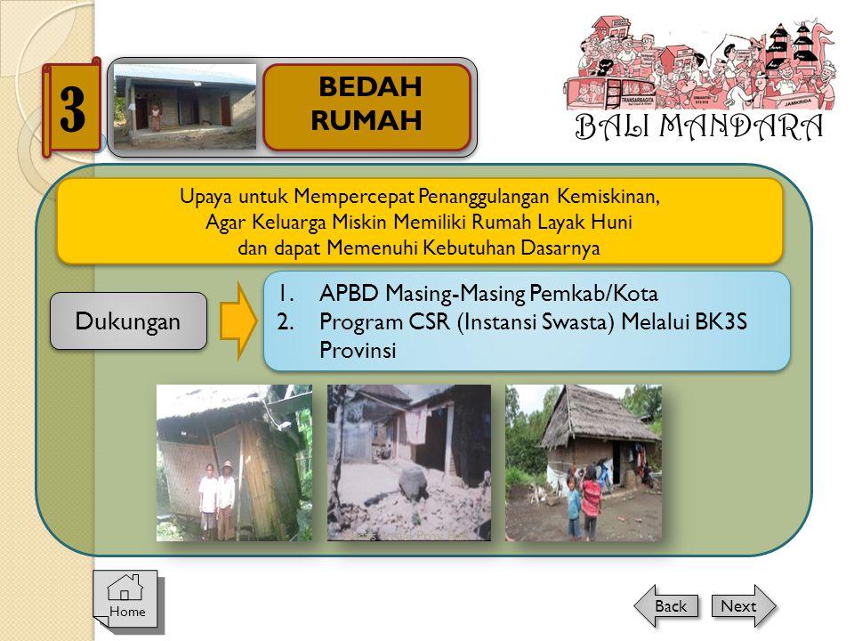 Dinas Sosial Prov. Bali BALI MANDARA BEDAH RUMAH 3 Home Next Back Upaya untuk Mempercepat Penanggulangan Kemiskinan, Agar Keluarga Miskin Memiliki Rum