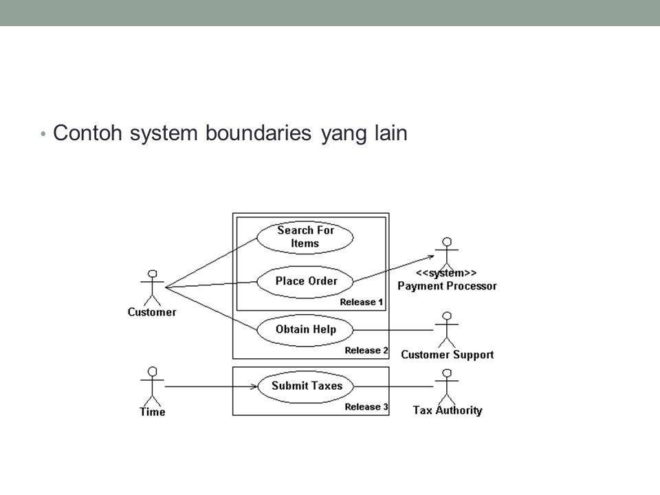 • Contoh system boundaries yang lain