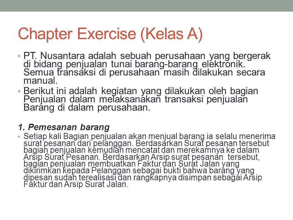 Chapter Exercise (Kelas A) • PT.