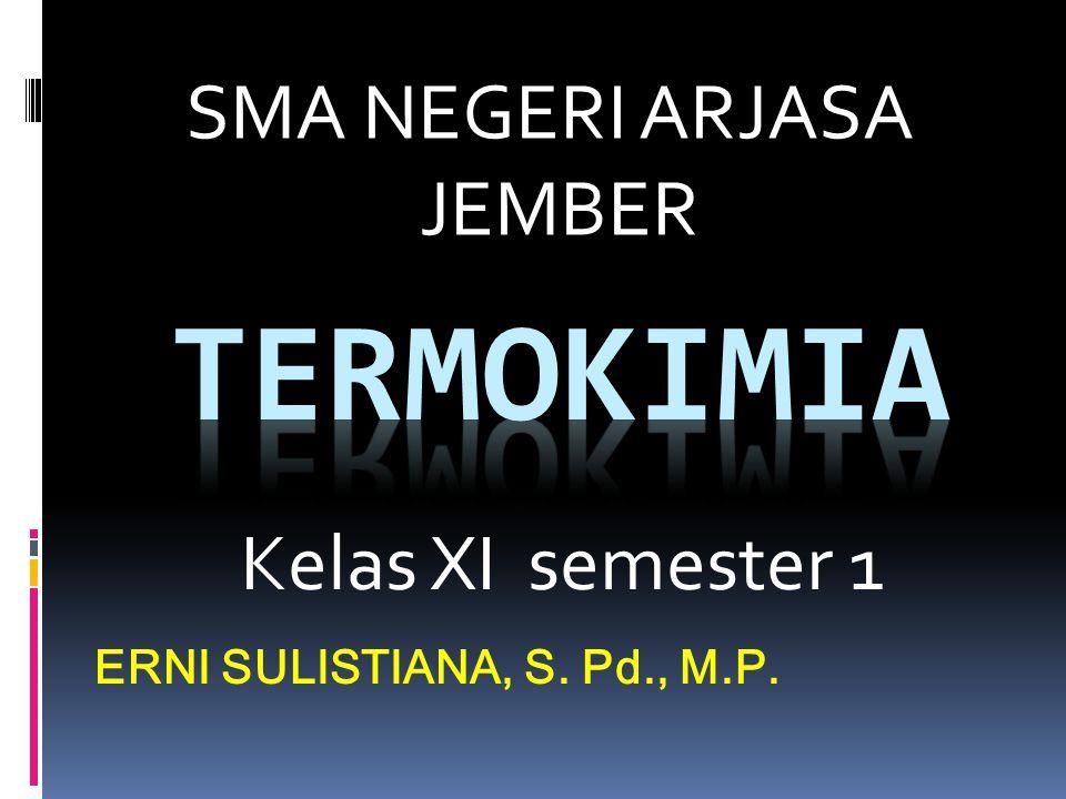 Kelas XI semester 1 ERNI SULISTIANA, S. Pd., M.P. SMA NEGERI ARJASA JEMBER