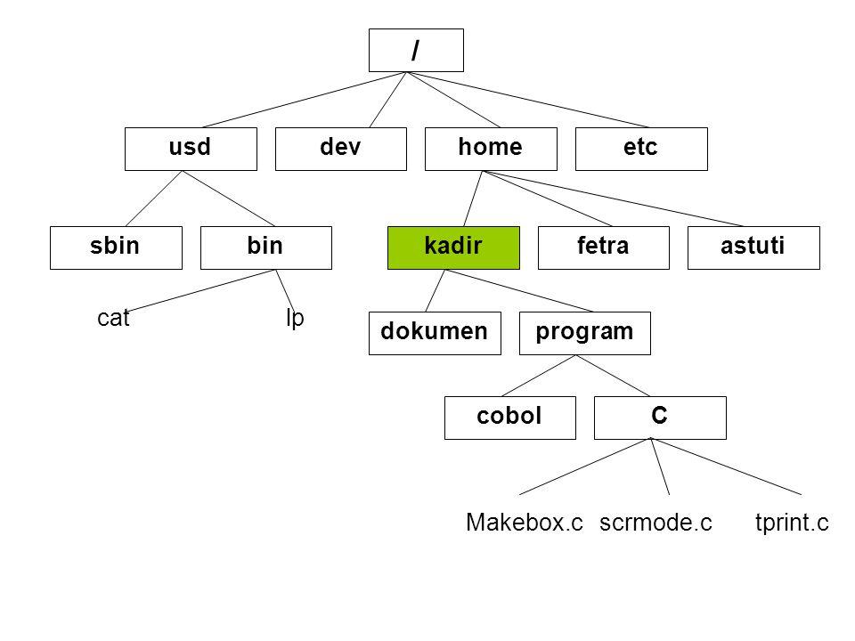 Masuk / Keluar Sistem UNIX •Proses Untuk masuk ke UNIX di sebut login.