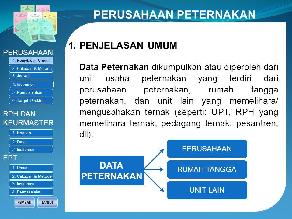 PENGUMPULAN DATA RUTIN (STATISTIK PETERNAKAN) Struktur Organisasi