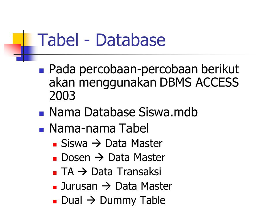 Contoh Fungsi Single-row  Karakter (lcase, ucase, initcap, concat, instr)  SELECT lcase(nama) FROM dosen;  Bilangan (cint, int, mod)  SELECT gaji,cint(gaji/100) FROM dosen;  Tanggal (now, date, time, add_months, round, trunc)  SELECT now,now+1 AS besok FROM dual;  Konversi implisit, atau eksplisit (val, cdate, cstr)  SELECT format(date, dd-mm-yyyy ) FROM dual;