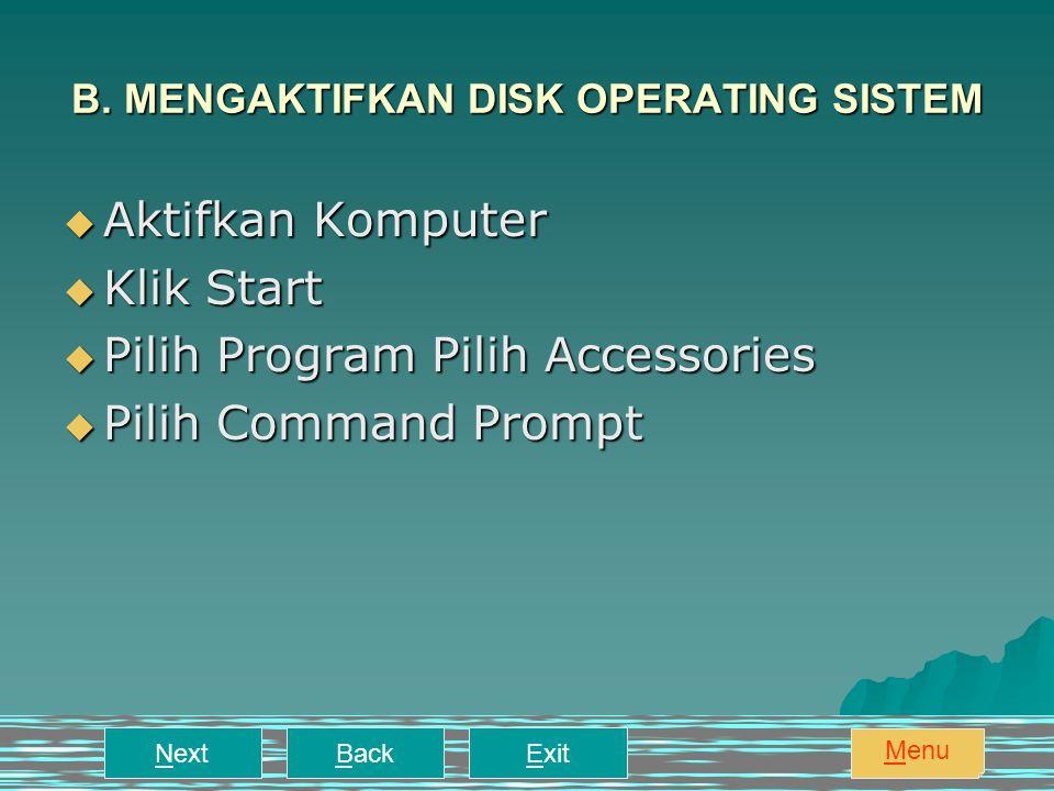 ExitNextBack Menu8. MEMFORMAT DISKET