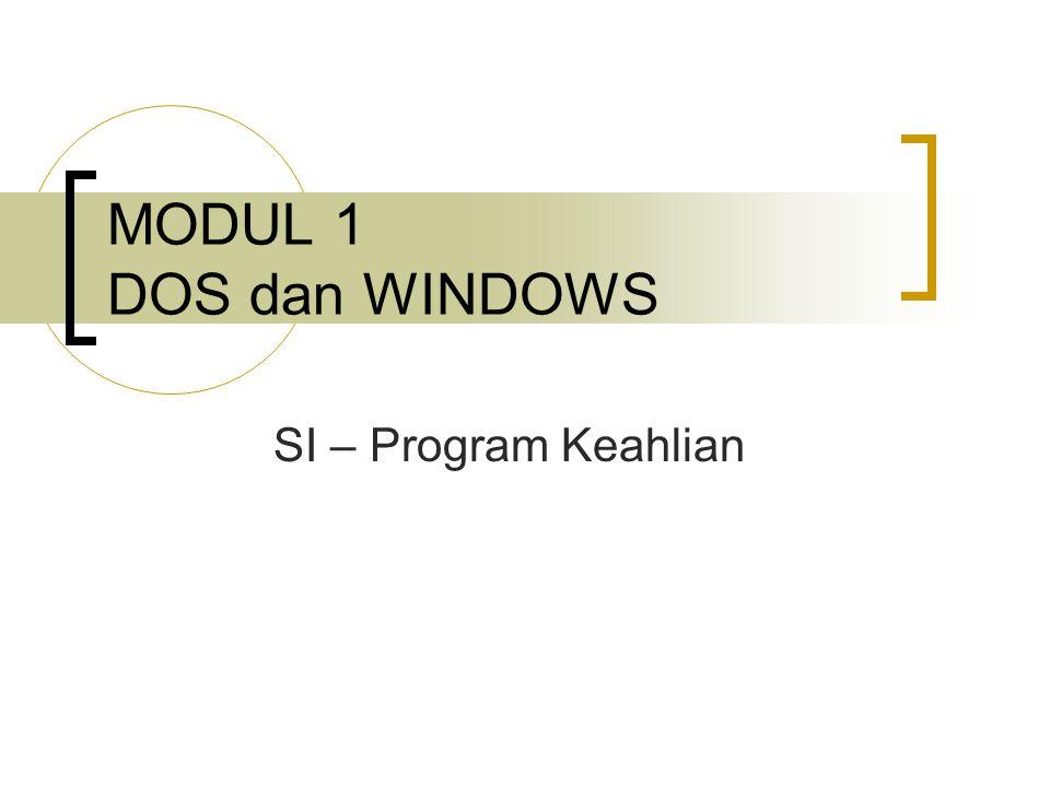 DOS  DOS adalah Disk Operating System.Sistem Operasi dalam mode teks.