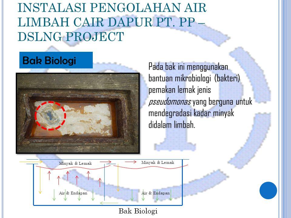 INSTALASI PENGOLAHAN AIR LIMBAH CAIR DAPUR PT.