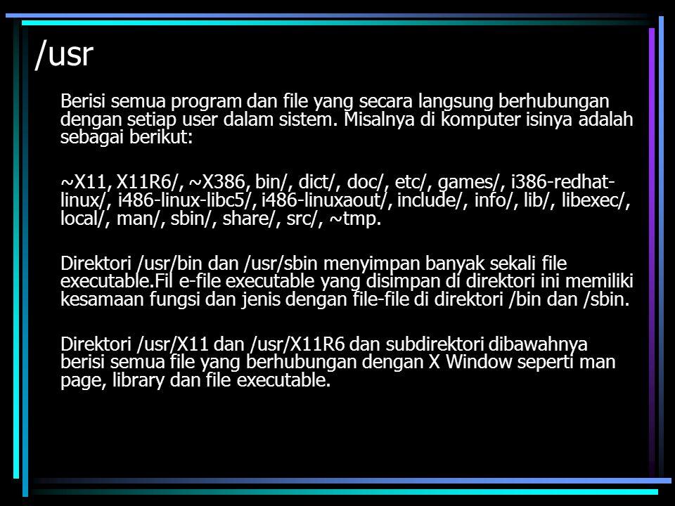 Perintah-Perintah Dasar Seperti halnya bila kita mengetikkan perintah di DOS, command line atau baris perintah di Linux juga diketikkan di prompt dan diakhiri enter untuk mengeksekusi perintah tersebut.