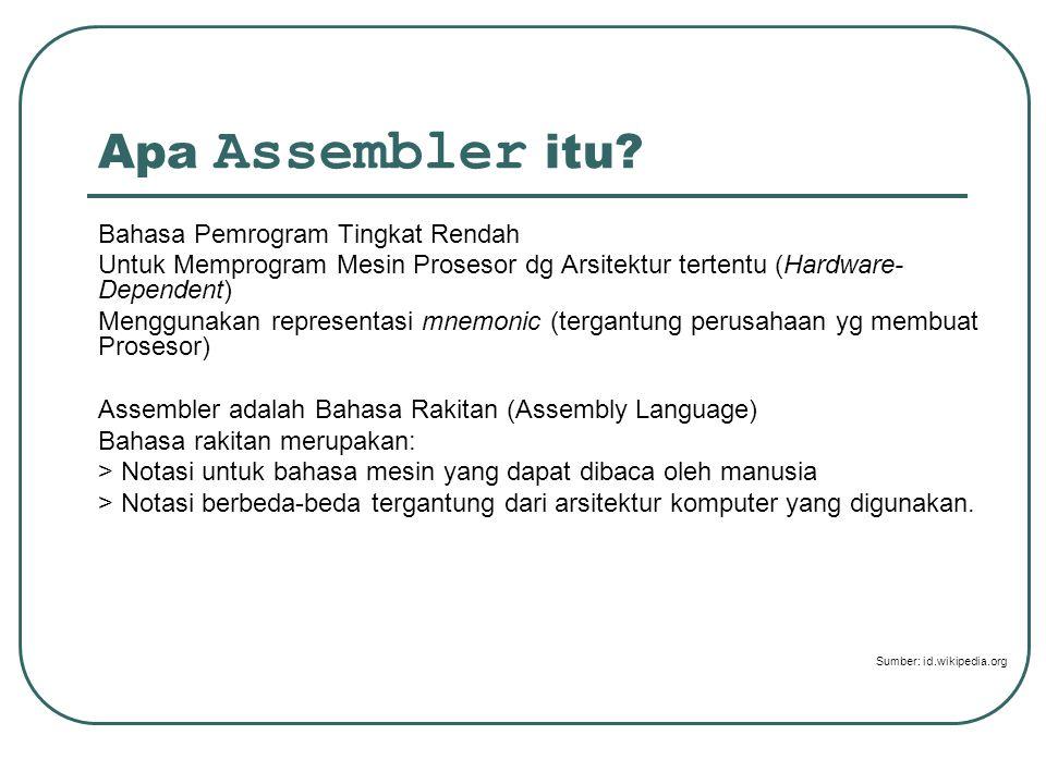 Apa Assembler itu.