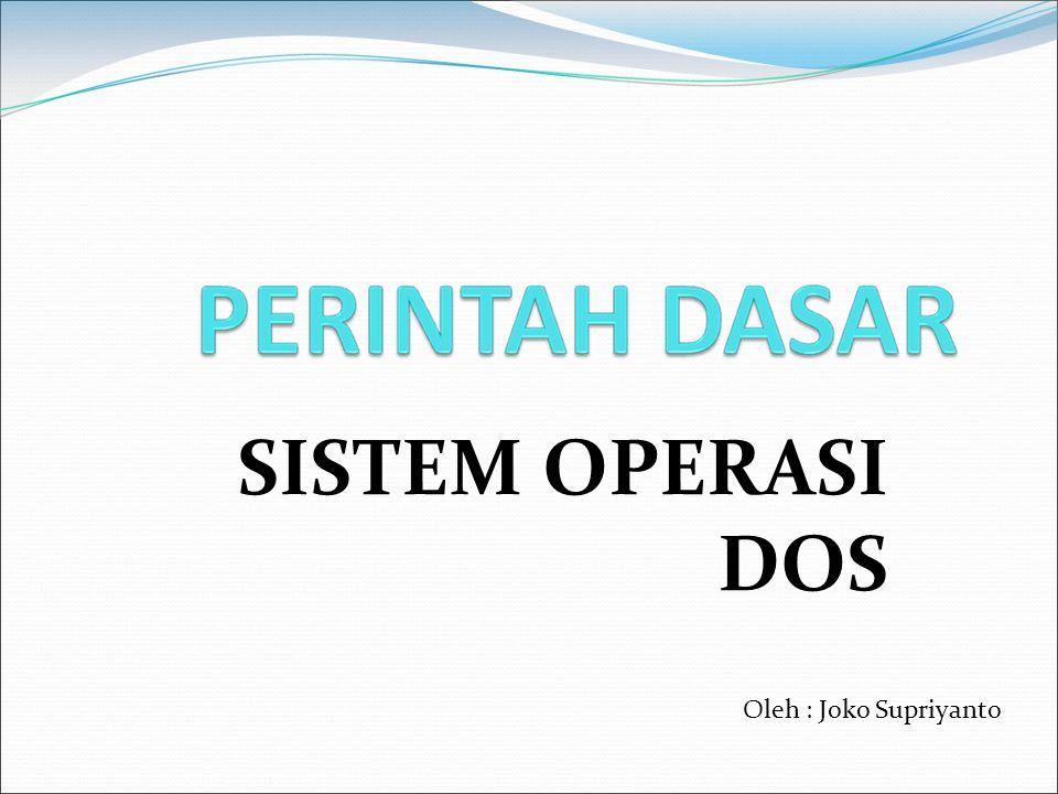 SISTEM OPERASI DOS Oleh : Joko Supriyanto