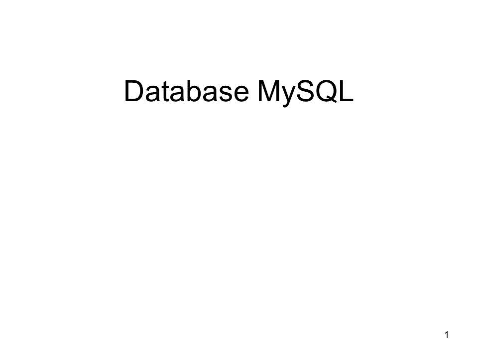 1 Database MySQL