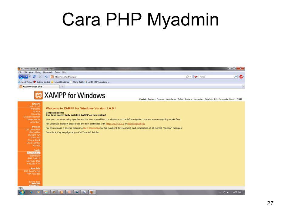 27 Cara PHP Myadmin