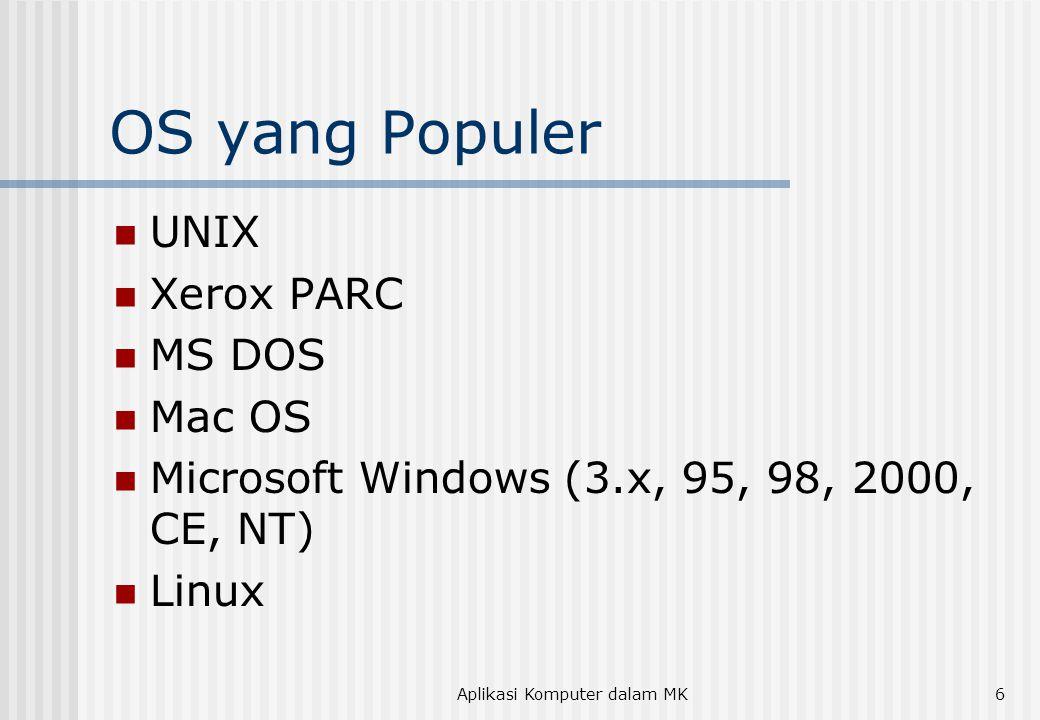 Aplikasi Komputer dalam MK7 Utility Software  Back-up  Antivirus  File Compression  Disk Defragmentation  File Protection  Cleaner  Dll.
