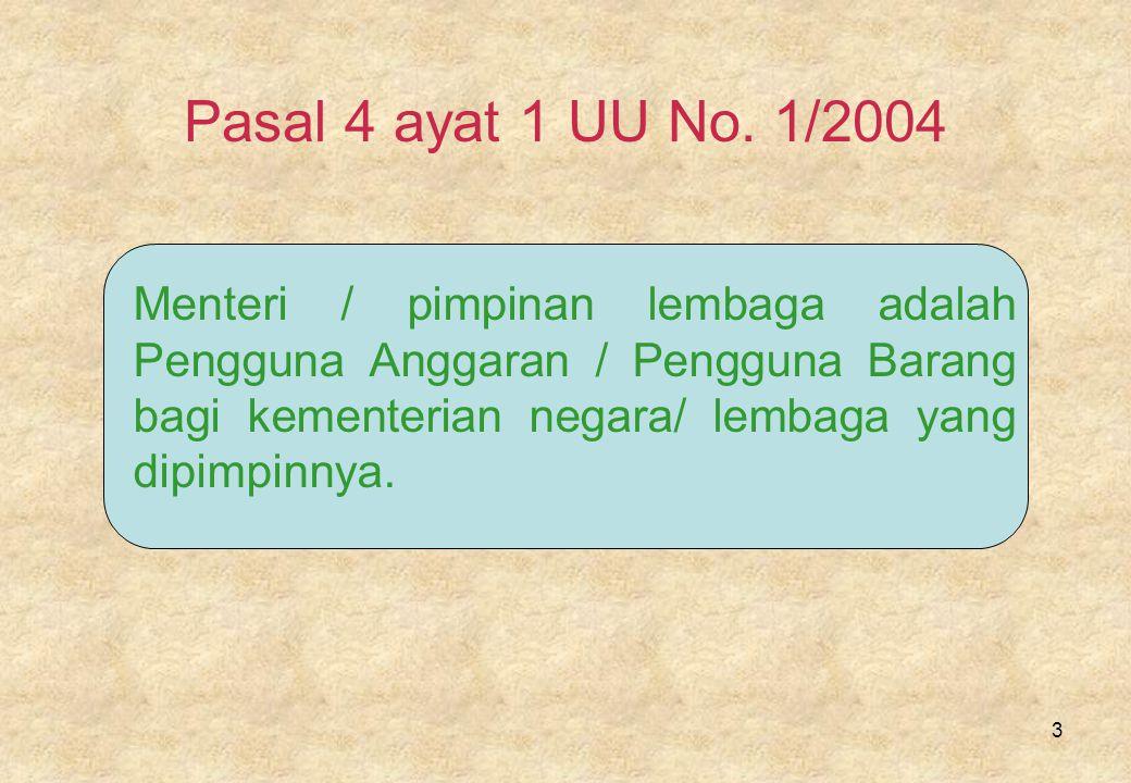 3 Pasal 4 ayat 1 UU No.
