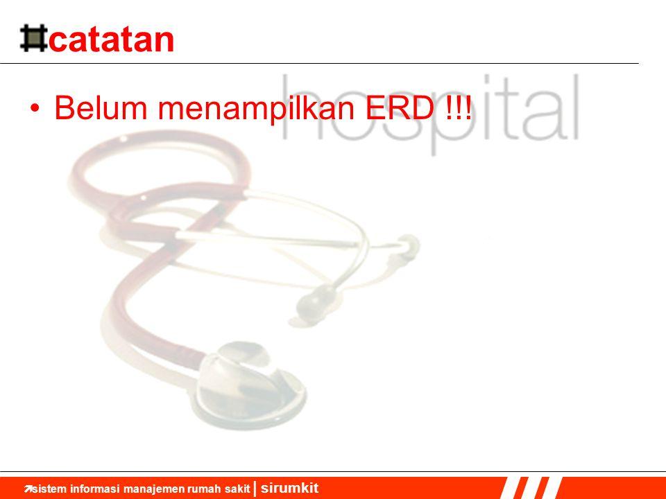  sistem informasi manajemen rumah sakit | sirumkit catatan •Belum menampilkan ERD !!!
