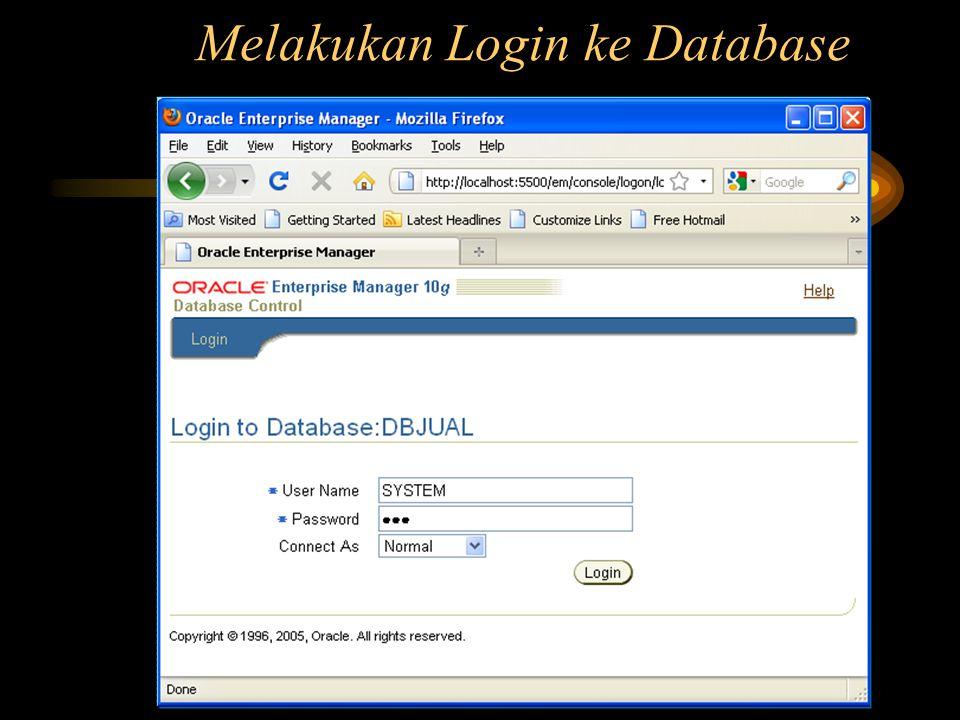 Melakukan Login ke Database