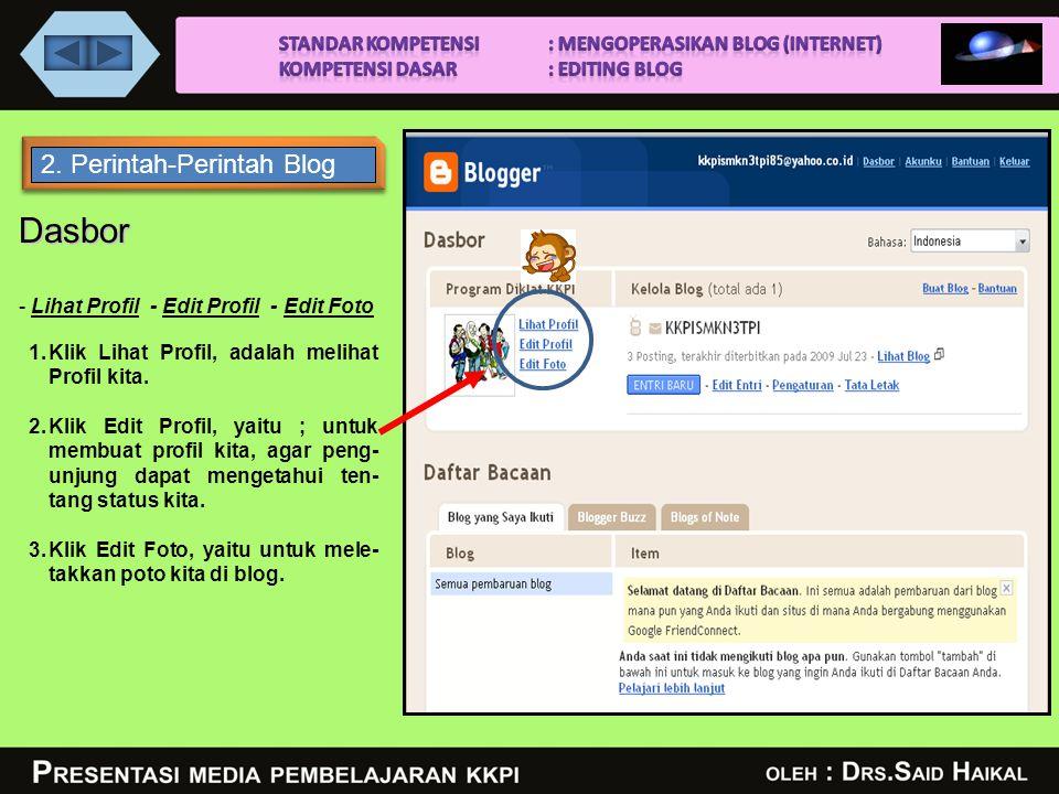 SMK NEGERI 3 TANJUNGPINANG 1.Edit Profil 2.