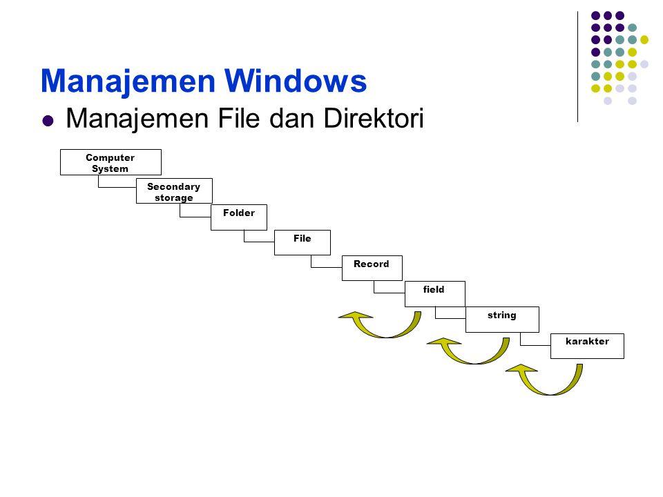 Windows Explorer Start (klik kanan) – explore - windows