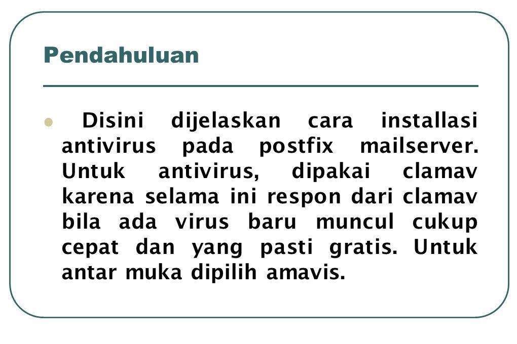 Modifikasi untuk user  Jalankan perintah • # cd /etc/skel • # maildirmake Maildir  Tambahkan user • # adduser coba