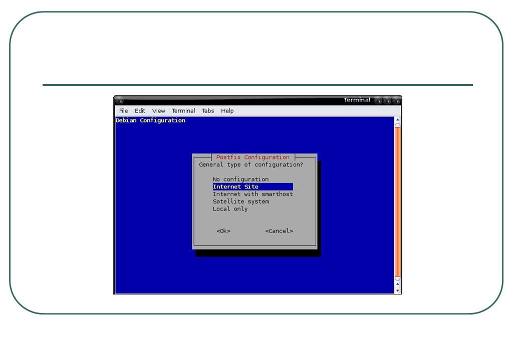 Integrasi dgn postfix  Edit file /etc/postfix/master.cf, tambahkan smtp-amavis unix - - n - 2 smtp -o smtp_data_done_timeout=1200 -o smtp_send_xforward_command=yes -o disable_dns_lookups=yes