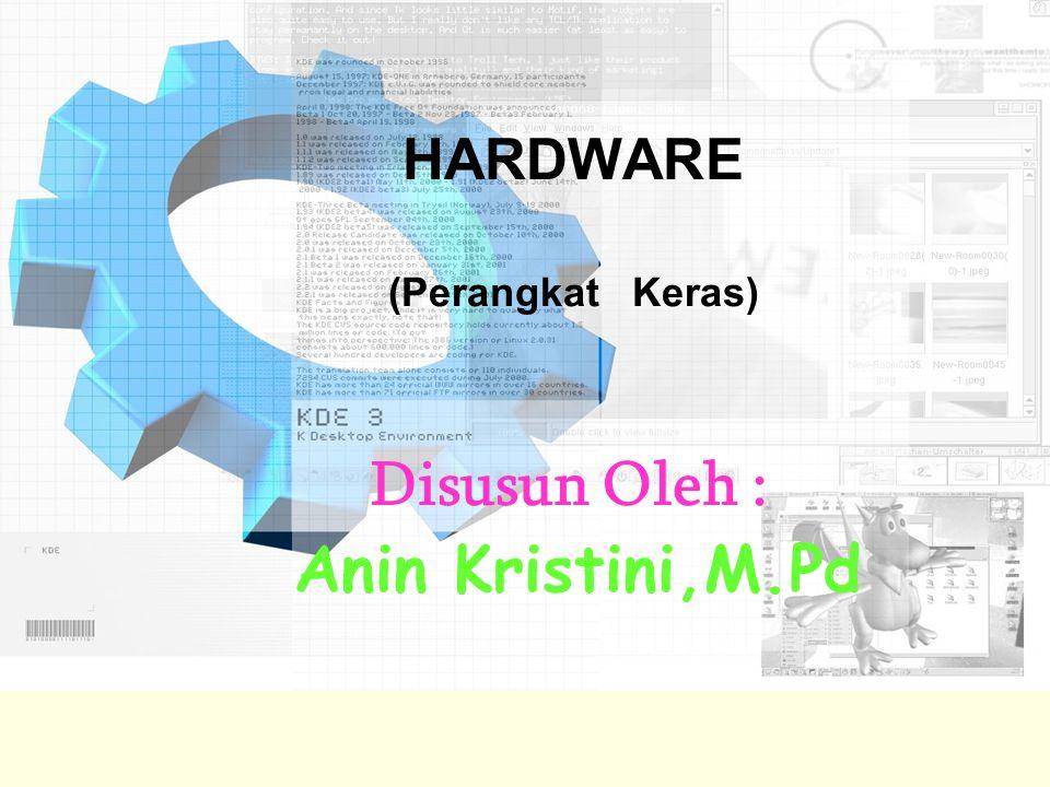 HARDWARE (Perangkat Keras) Disusun Oleh : Anin Kristini,M.Pd