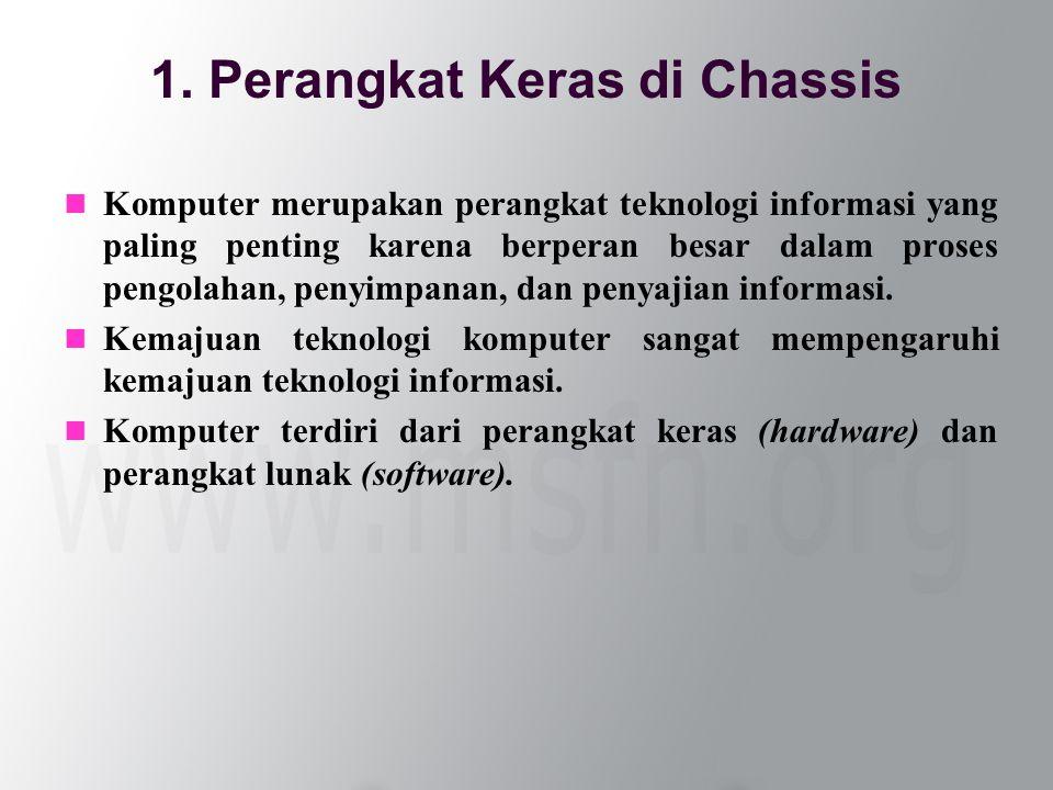  Komputer merupakan perangkat teknologi informasi yang paling penting karena berperan besar dalam proses pengolahan, penyimpanan, dan penyajian informasi.
