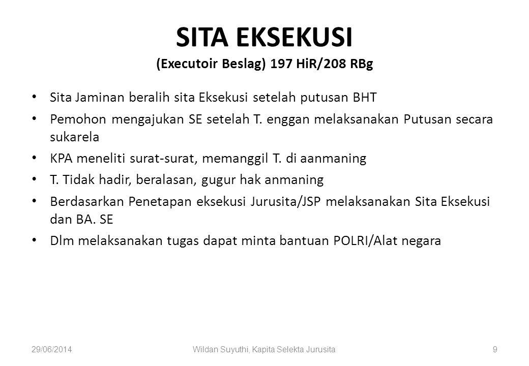 Tata Cara Eksekusi 1.Permohonan Pihak yang menang (HiR.