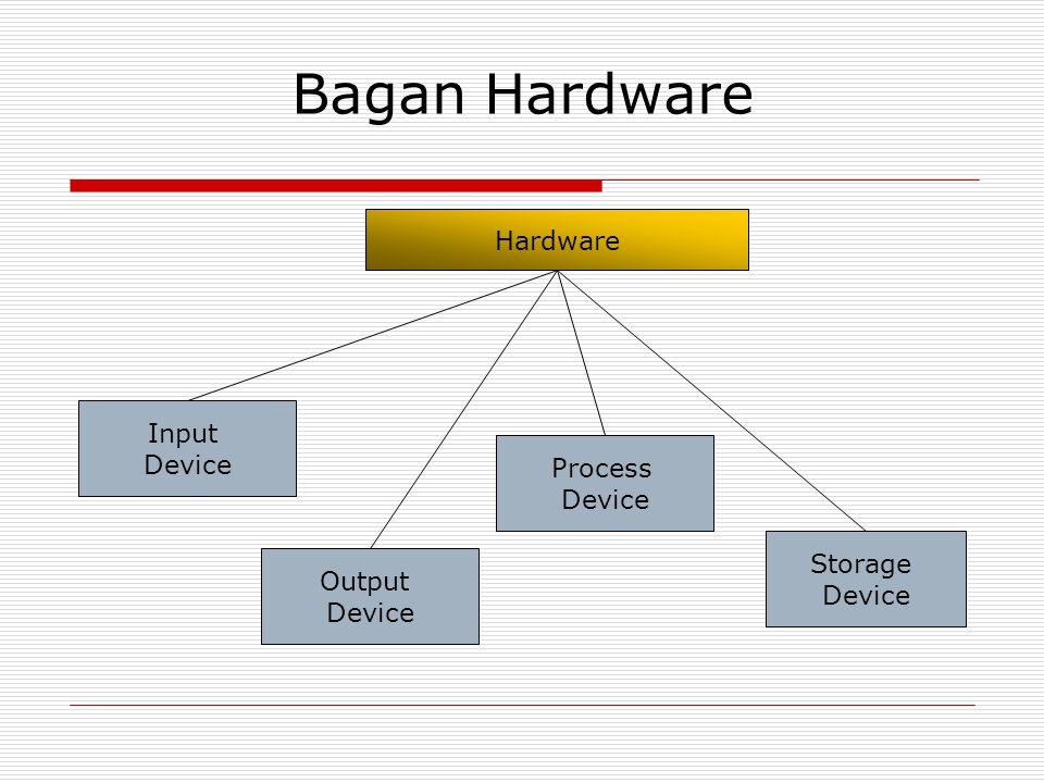 Bagan Hardware Input Device Output Device Process Device Storage Device Hardware