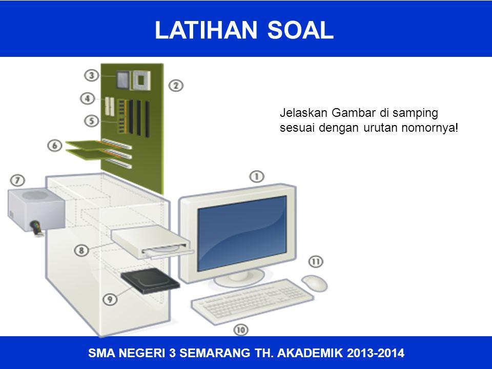 SMA NEGERI 3 SEMARANG TH. AKADEMIK 2013-2014 LATIHAN SOAL Jelaskan Gambar di samping sesuai dengan urutan nomornya!
