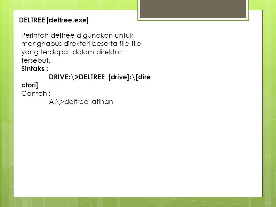 LABEL [label.exe] Perintah label digunakan untuk memberikan nama pada suatu disk baik itu harddisk atau disket.