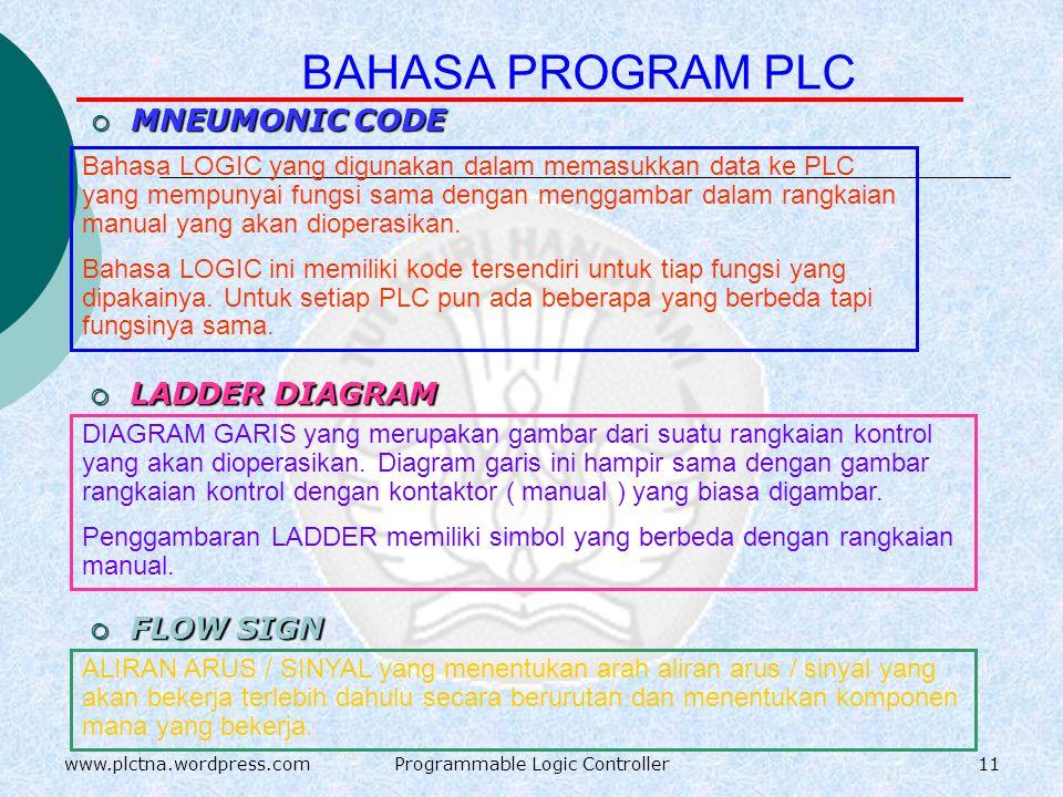 PLC TYPE MODULAR POWER SUPPLYPOWER SUPPLY INPUT OUTPUT ERROR RUN POWER CPU 10www.plctna.wordpress.comProgrammable Logic Controller