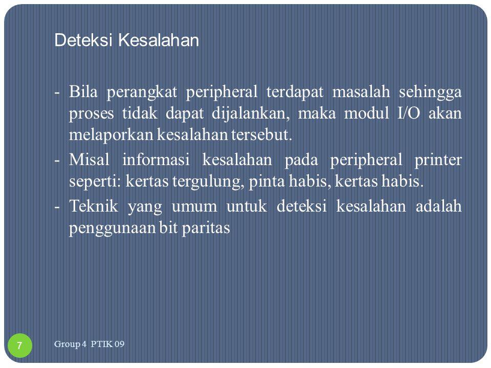 Klasifikasi perintah I/O 1.Perintah control.