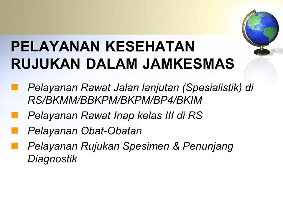 Tarif Pelayanan JAMKESMAS Program Rujukan... P A K E T
