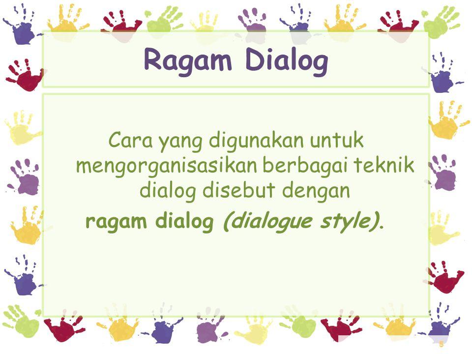 6 Ragam Dialog Interaktif • Secara umum, ragam dialog interaktif dapat dikelompokkan menjadi 9 kategori, yaitu: – Dialog berbasis perintah tunggal (command line dialogue) – Dialog berbasis bahasa pemrograman (programming language dialogue) – Antarmuka berbasis bahasa alami (natural language interface) – Sistem menu
