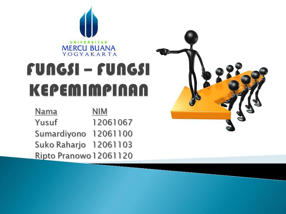 NamaNIM Yusuf 12061067 Sumardiyono12061100 Suko Raharjo 12061103 Ripto Pranowo12061120