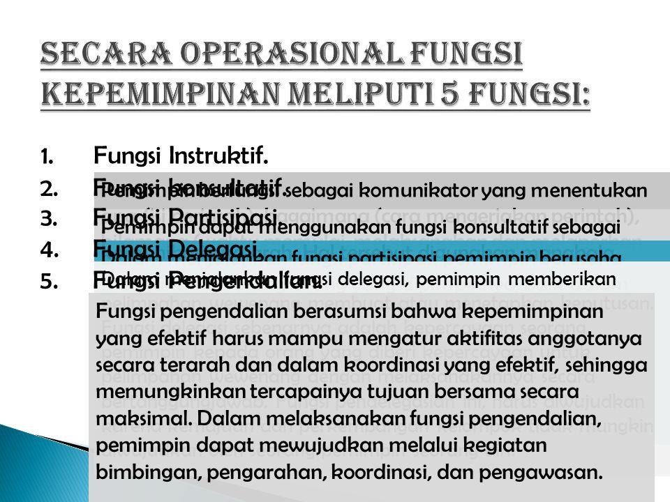 1.Fungsi Instruktif.