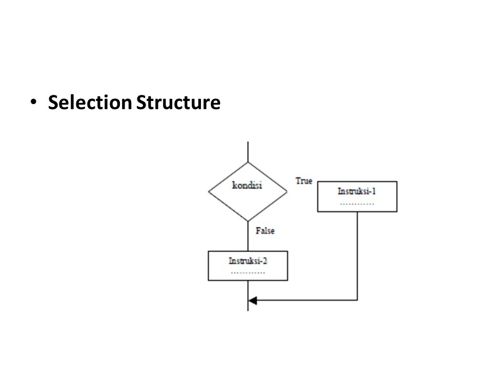 • Selection Structure