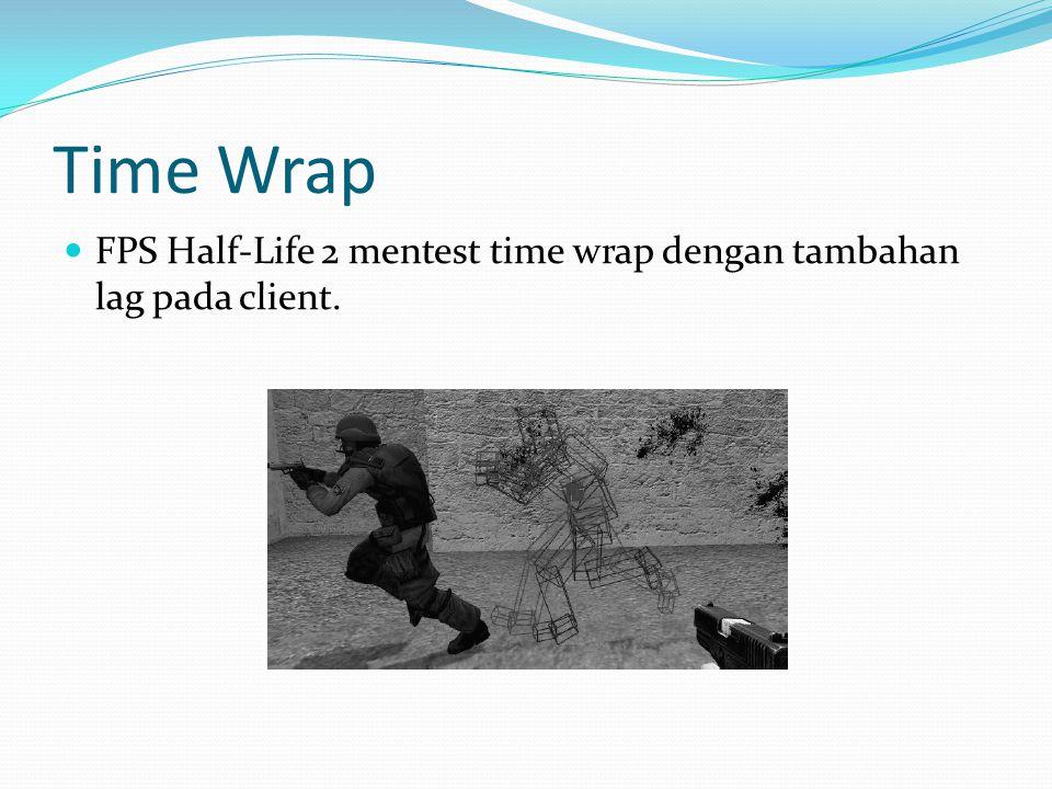 Time Wrap  FPS Half-Life 2 mentest time wrap dengan tambahan lag pada client.