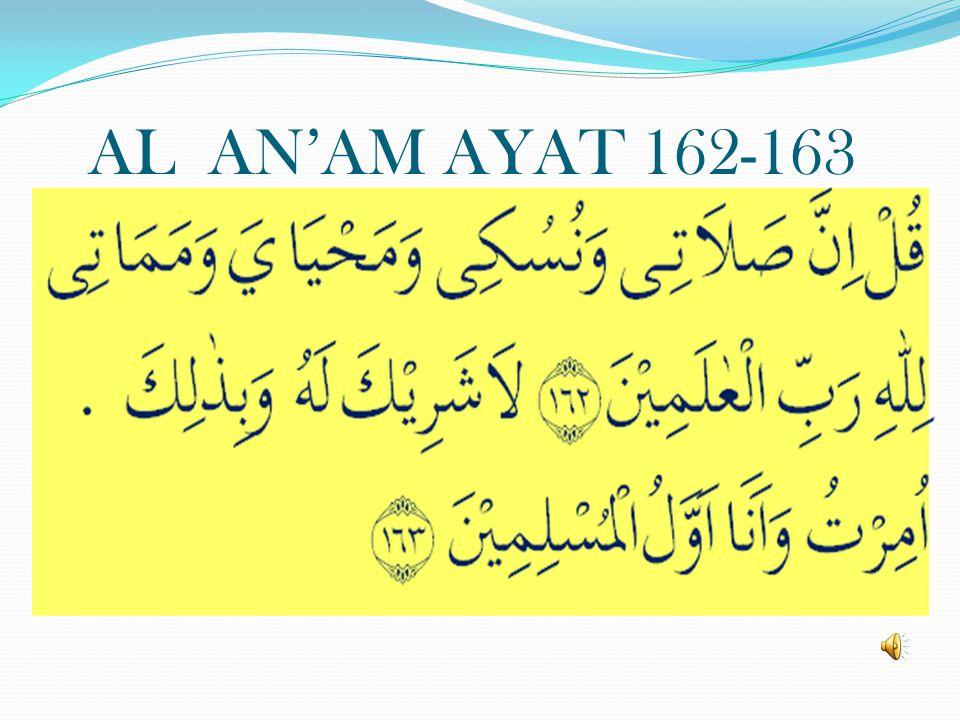AL AN'AM AYAT 162-163