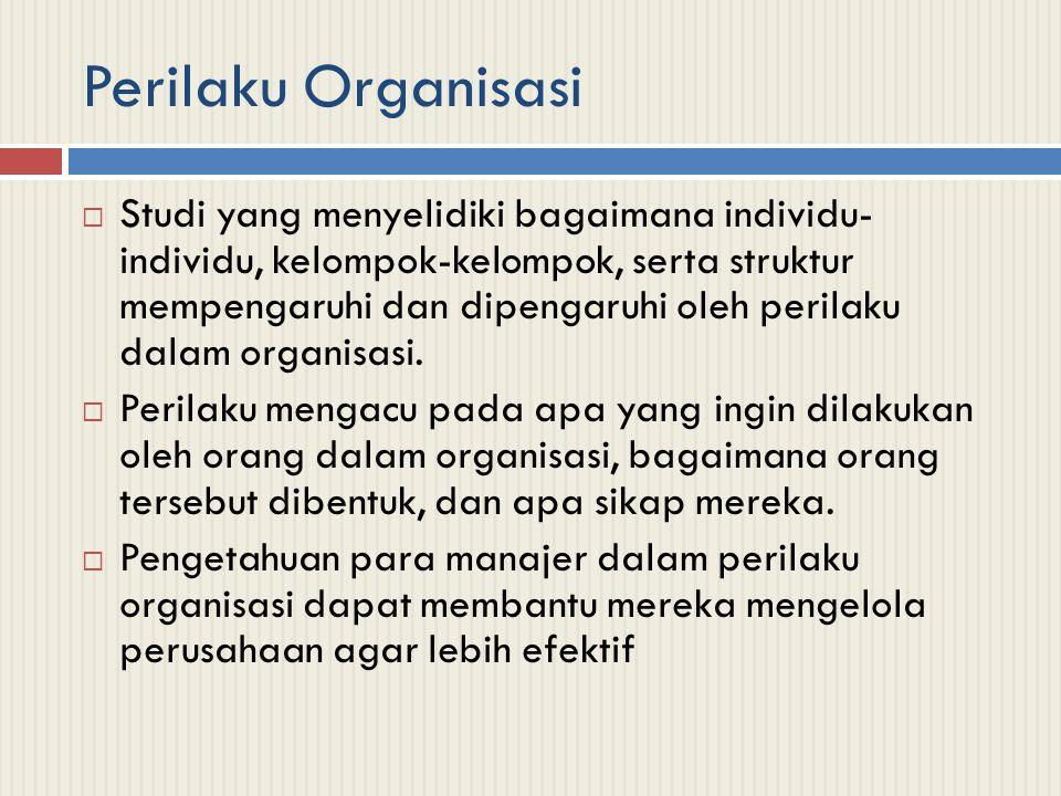 Beberapa Hal Penting dalam Perilaku Organisasi  Teori Peran  Struktur Sosial  Budaya  Komitmen Organisasi  Konflik