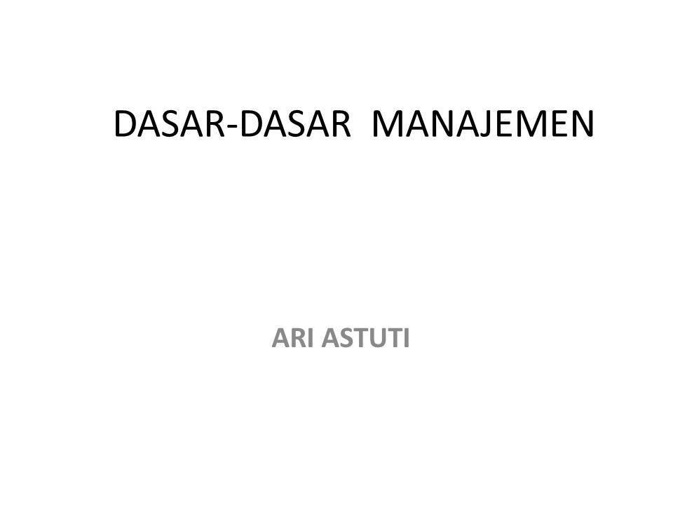 DASAR-DASAR MANAJEMEN ARI ASTUTI