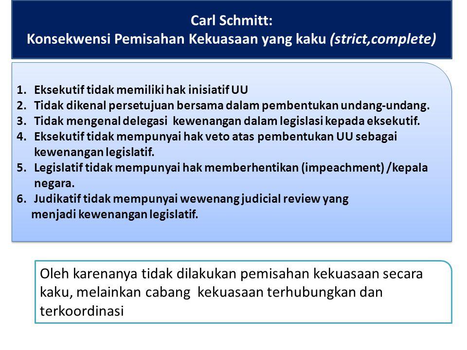 Checks and Balances. Check : Pengawasan (control) To Check = menguji To Check = menunda, menghambat, mengerem Kekuasaan cenderung menyebabkan orang ba