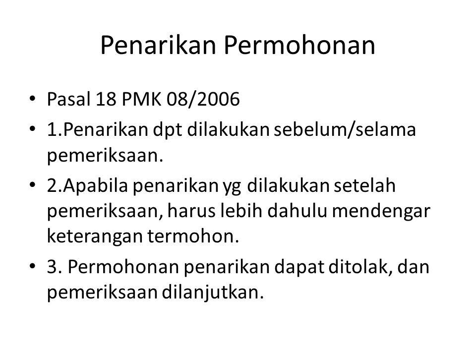 PEMERIKSAAN PENDAHULUAN. Pasal 11 (2) PMK 08/2006 1.Pemeriksaan Pendahuluan dilakukan oleh Panel, sekurangnya 3 orang hakim; 2.Dihadiri oleh Pemohon a